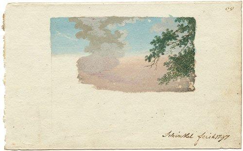 5810: Schinkel, Karl Friedrich: Skizzenbuchblatt mit ei