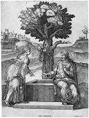 6023 Beatrizet Nicolas Christus und die Frau aus Sam