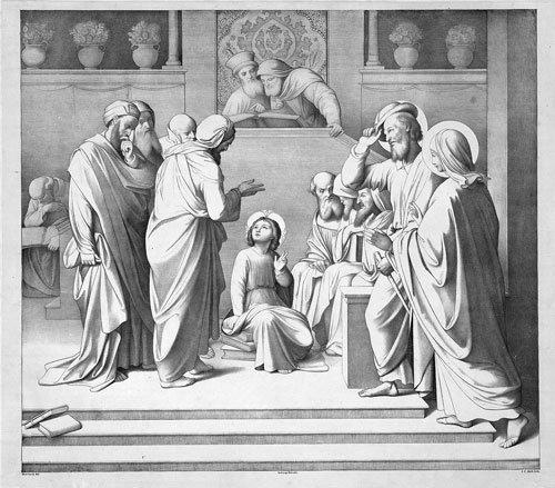 6482: Overbeck, Friedrich - nach: Christus unter den Sc