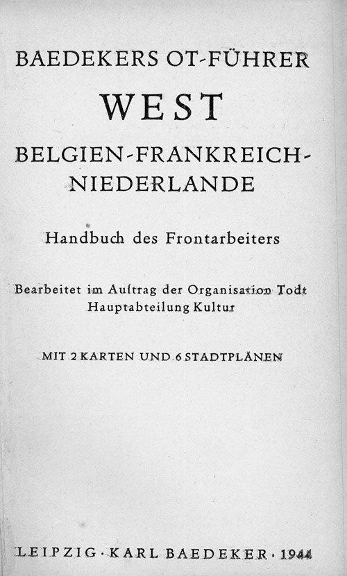 67: Baedeker, Karl: OT-Führer West
