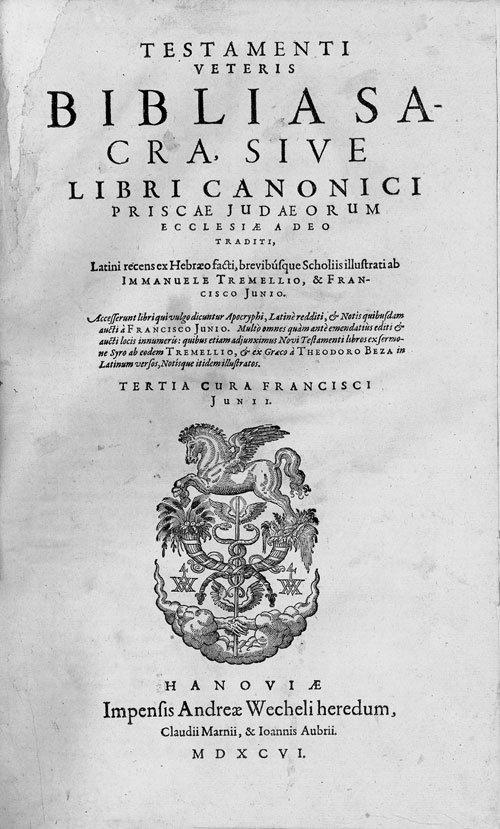 706: Biblia latina: Hanau, Andreas Wechels Erben, 1596