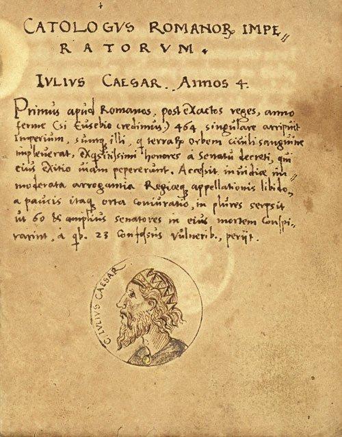 711A: Catalogus romanorum imperatorum: Lateinische und