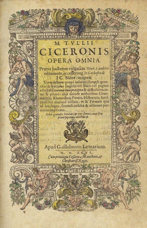 713: Cicero, Marcus Tullius: Opera omnia