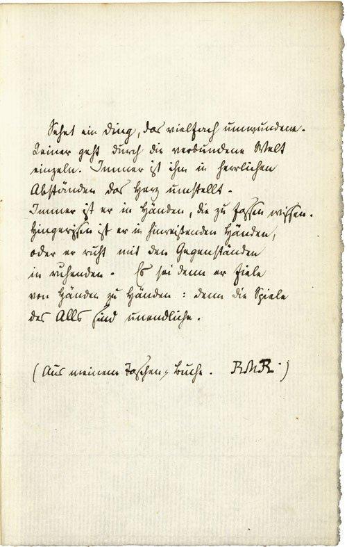 1527: Rilke, Rainer Maria: Gedichtmanuskript im Buch, 1