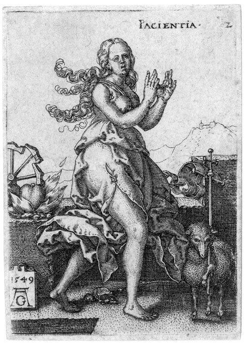 5001: Aldegrever, Heinrich: Pacientia