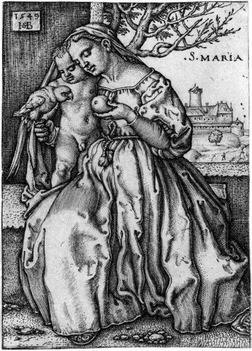 5022: Beham, Sebald: Die Jungfrau mit dem Kinde und dem