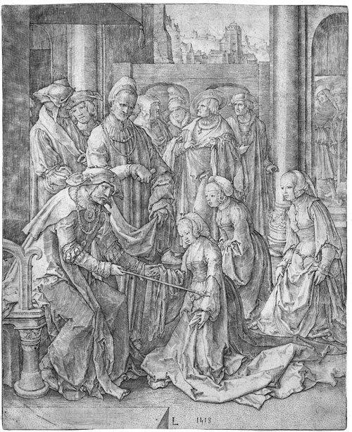 5795: Leyden, Lucas van: Abraham verstößt Hagar