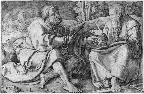 5804: Leyden, Lucas van: Die hll. Petrus und Paulus im