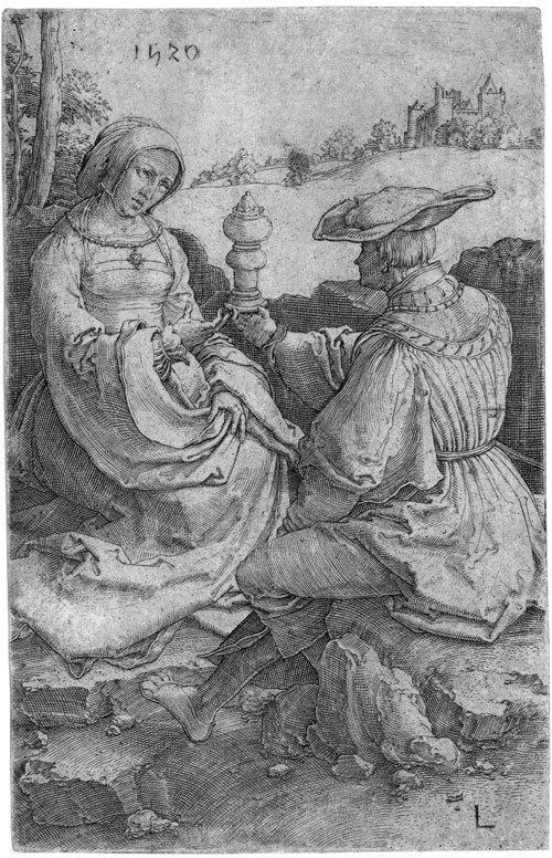 5805: Leyden, Lucas van: Edelmann und Edelfrau