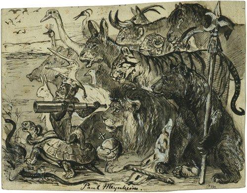 6451: Meyerheim, Paul: Der König der Tiere und sein Hof