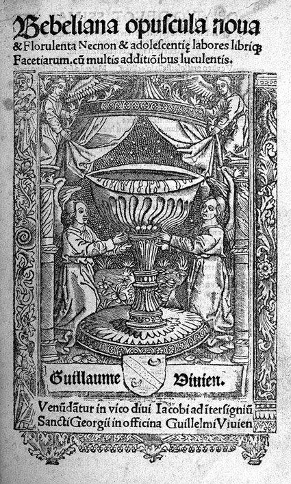 805: Bebel, Heinrich: Bebeliana opuscula nova