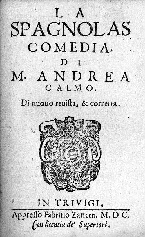 811: Calmo, Andrea: Sammelband mit 5 Werken