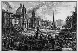 5359: Piranesi, Giovanni Battista: Veduta di Piazza Nav