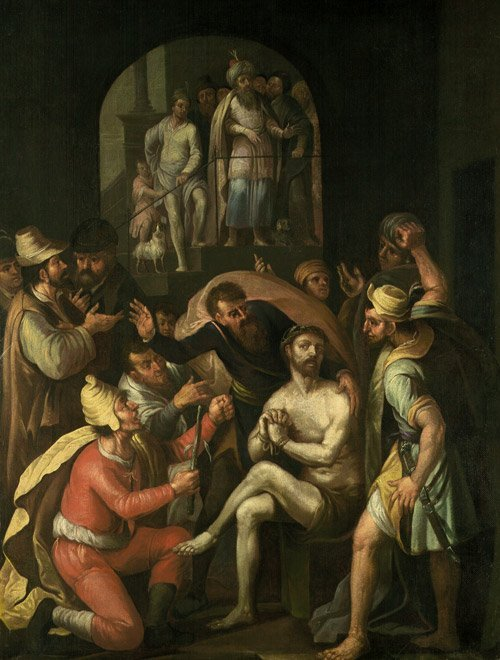 6201: Aertsen, Pieter van: Die Verspottung Christ