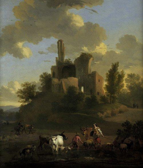 6205: Begeyn, Abraham: Pastorale Landschaft mit Hirten
