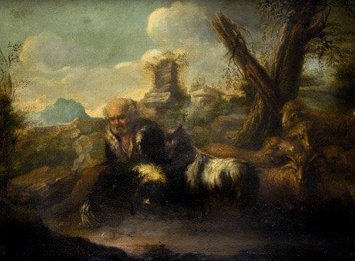 6212: Castiglione, Giovanni Benedetto - Umkreis: Rasten