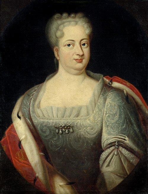 6214A: Deutsch, 18. Jh.: Bildnis Sophie Dorothea von Br