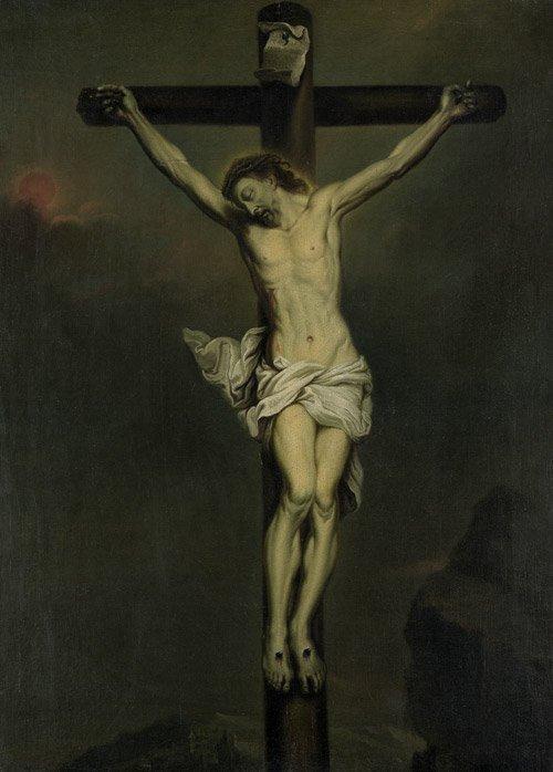 6219A: Flämisch, um 1700: Christus am Kreuz