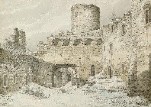 6588: Deutsch, 1832: Burgruine im Winter
