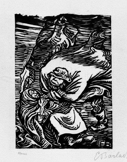 6808: Barlach, Ernst: Gruppe im Sturm