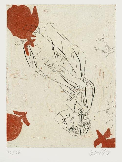 6817: Baselitz, Georg: Melancholie drei Rosen