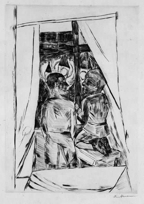 6823: Beckmann, Max: Kinder am Fenster
