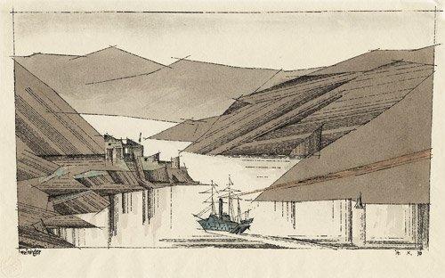 6911: Feininger, Lyonel: Norwegischer Fjord