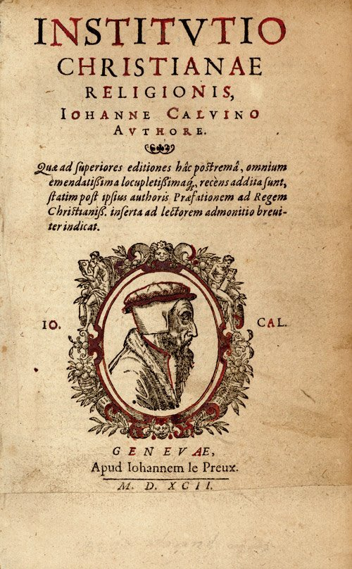 617: Calvin, J.: Institutio christianae religionis
