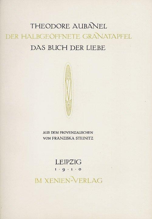 2721: Aubanel, Theodore: Der halbgeöffnete Granatapfel.