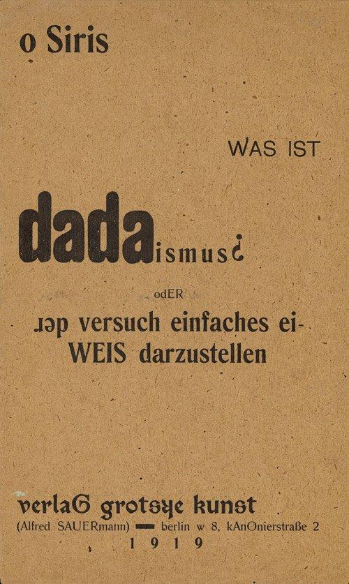 2873: Sauermann, Alfred: o Siris - Was ist dadaismus?