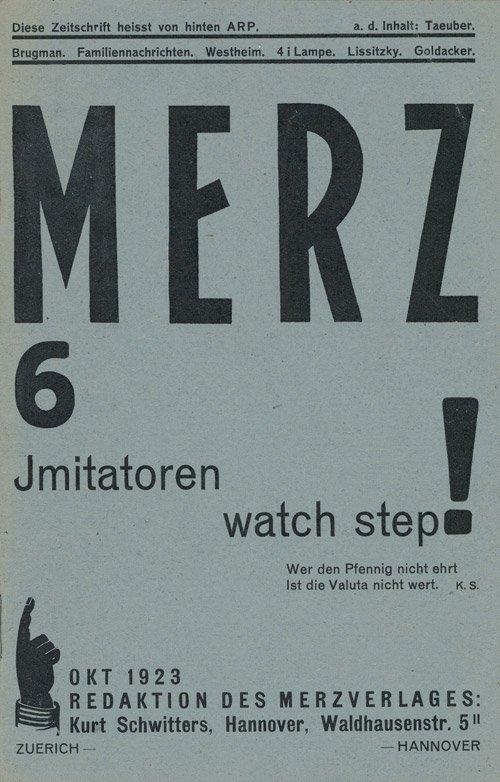 2881: Schwitters, Kurt: Merz 6 - Imitatoren watch step!