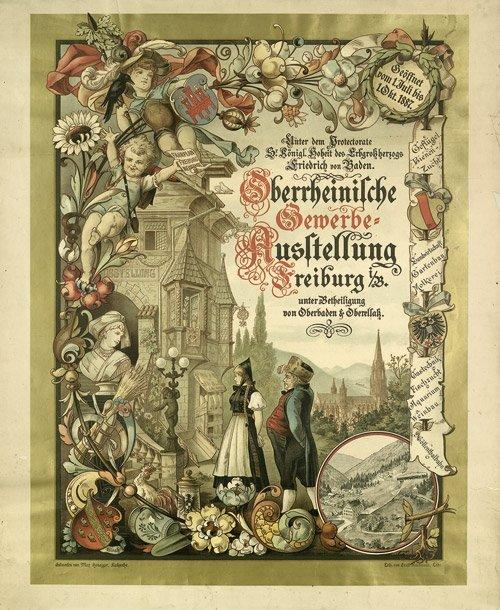 3614: Honegger, Max: Oberrheinische Gewerbe-Ausstellung