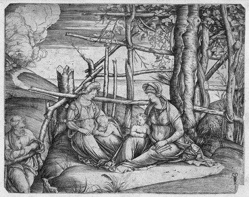 5010: Barbari, Jacopo de: Hl. Familie mit der hl. Elisa