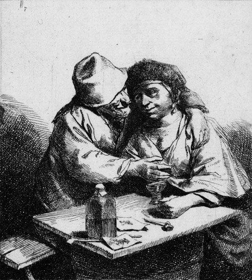 5012: Bega, Cornelis: Das Liebespaar