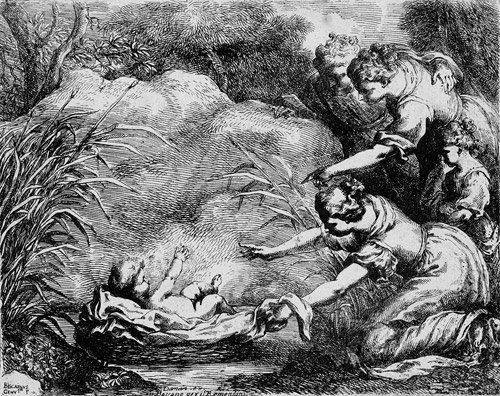 5014: Biscaino, Bartolomeo: Die Auffindung des Moseskna