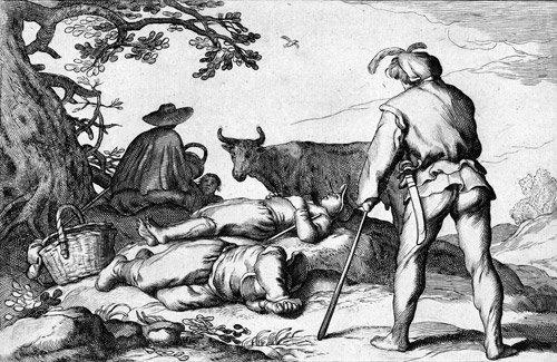 5016: Bloemaert, Cornelis: Vier ländliche Szenen