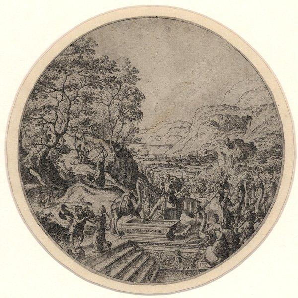 5018: Bol, Hans: Eleazar und Rebecca am Brunnen