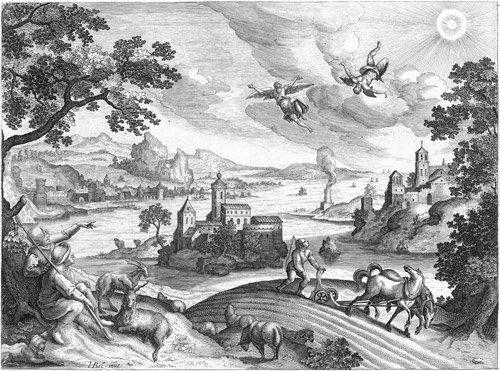 5021: Bol, Hans - nach: Landschaft mit dem Sturz des Ik