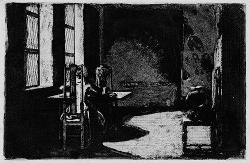 5585: Chodowiecki, Daniel: Der Künstler in dem Zimmer s
