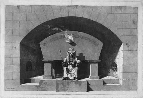 5591: Desprez, Louis-Jean: Grabmonument mit Tod als Sph
