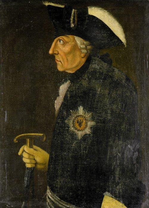 6306: Deutsch, 18. Jh.: Bildnis Friedrich d. Gr. im Pro