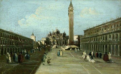 6313: Guardi, Francesco - Nachfolge: Markusplatz mit St