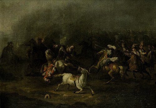 6314: Huchtenburg, Jan van: Reitergefecht