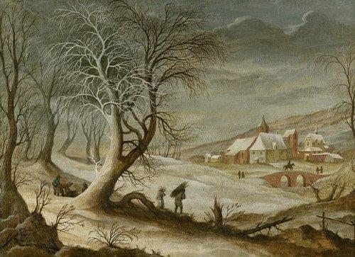 6318: Momper, Frans de - zugeschrieben: Winterlandschaf