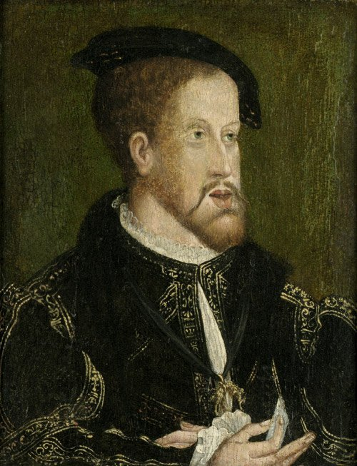 6334: Vermeyen, Jan van -Werkstatt -: Bildnis Karls V.