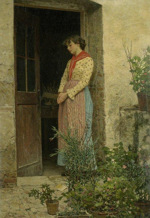 6424: Pajetta, Pietro: Junge Frau in ländlicher Tracht