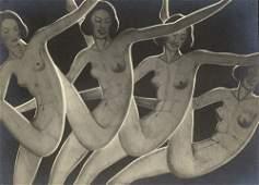 4676: Drtikol, Frantisek: Dancers (Paper Cut-out)