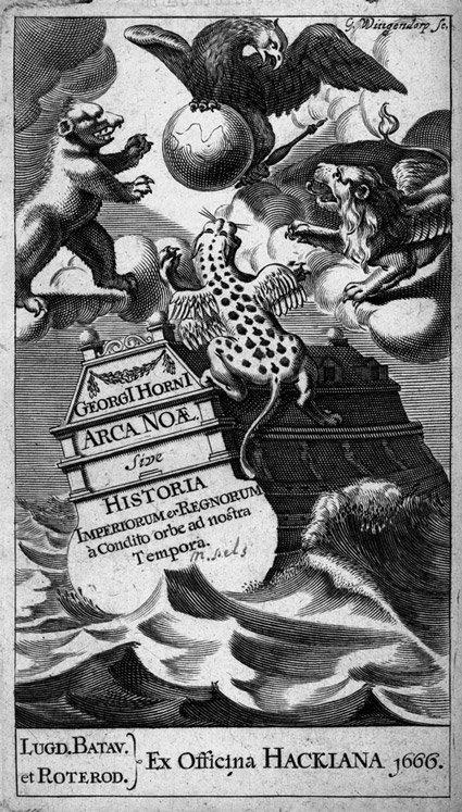 25: Horn, Georg: Arca Noae sive Historia. EA 1666