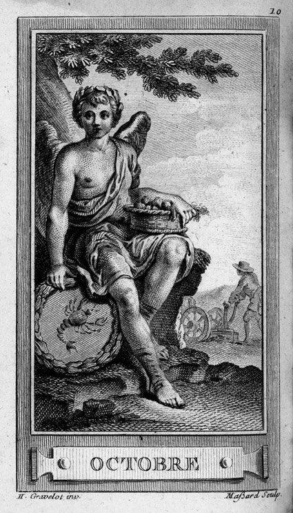 1803: 1803: Almanach Iconologique année 1771: Les XII