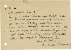 2551: 2551: Planck, Max: Brief u. Postkarte + Beilage